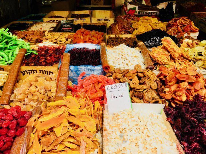 Dried fruit at Carmel Market in Tel Aviv Israel ; Tel Aviv City Trip Travel Blog Inspirations