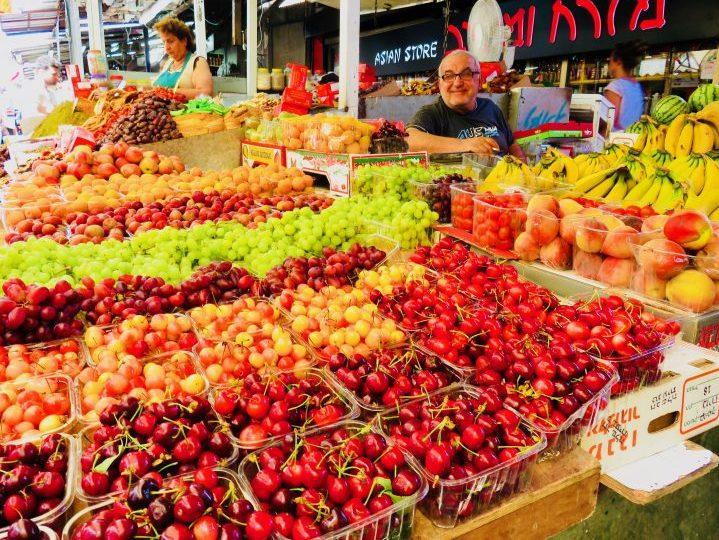 Fresh fruit at Carmel Market in Tel Aviv Israel ; Tel Aviv City Trip Travel Blog Inspirations