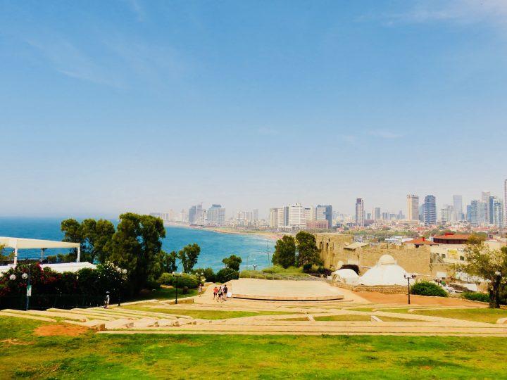 Lookout Old Jaffa for blog Neighbourhoods in Tel Aviv Israel; Tel Aviv City Trip Travel Blog Inspirations