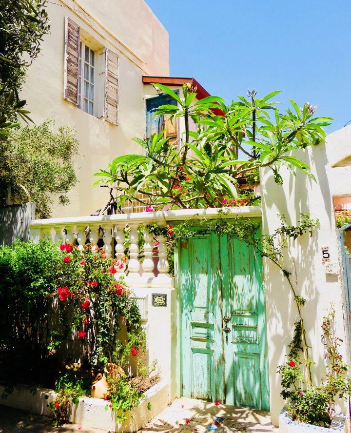 Door of Neva Tzedek House in Tel Aviv Israel ; Tel Aviv City Trip Travel Blog Inspirations