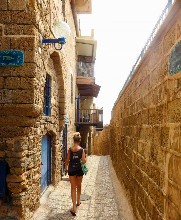 Old Jaffa City Wall for blog Neighbourhoods in Tel Aviv Israel; Tel Aviv City Trip Travel Blog Inspirations