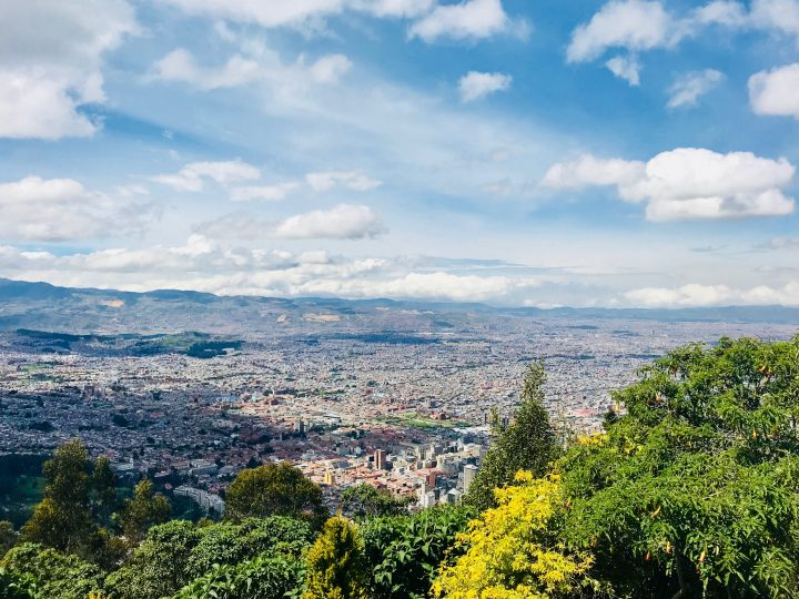 Overview over Bogota Colombia; Colombia Travel Blog Inspirations