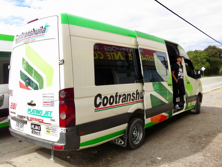 Cootranshuilla Transport in Colombia; Colombia Travel Blog Inspirations