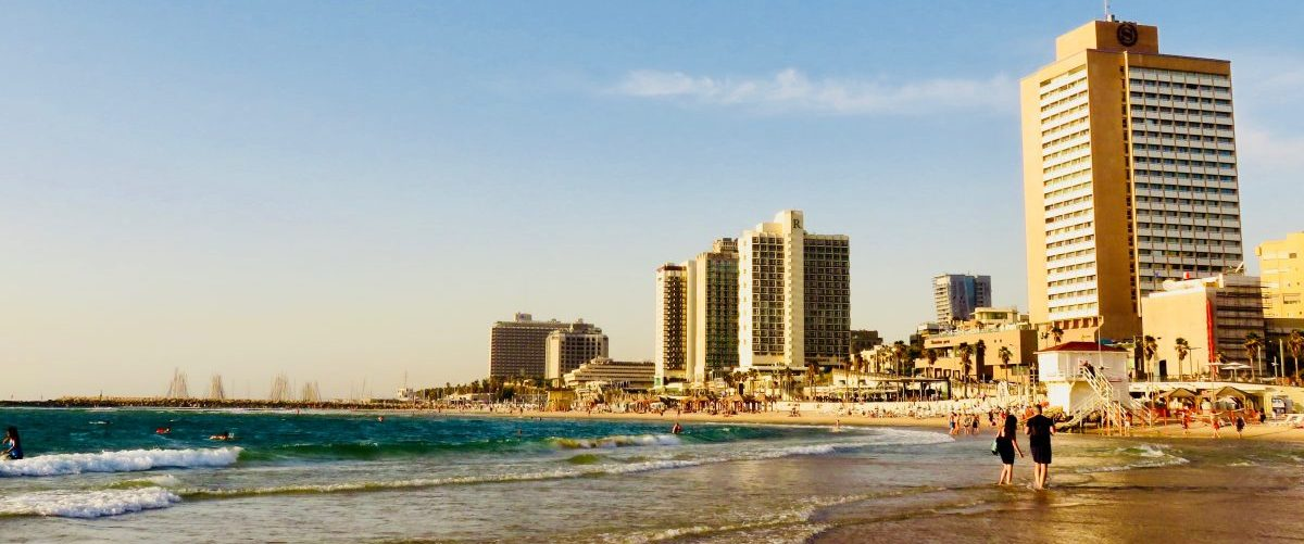 Beachfront overview over Tel Aviv Israel ; Tel Aviv City Trip Travel Blog Inspirations