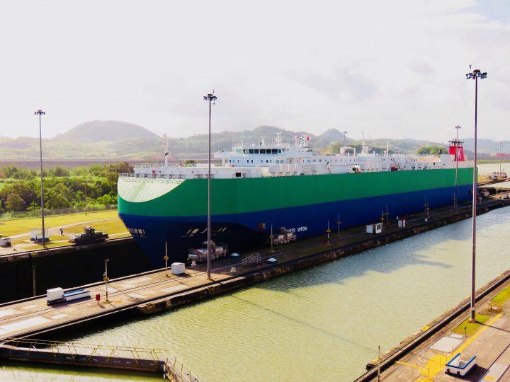 Big Ship Miraflores Lock view Panama Canal Panama; Panama Travel Blog Inspirations
