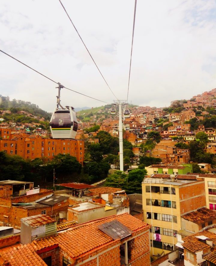 Cable Car view in Medellín Colombia; Colombia Travel Blog Inspirations