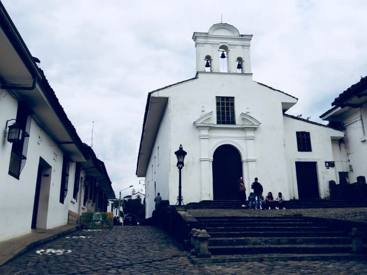 White Church in Colonial Poyayán Colombia; Colombia Travel Blog Inspirations