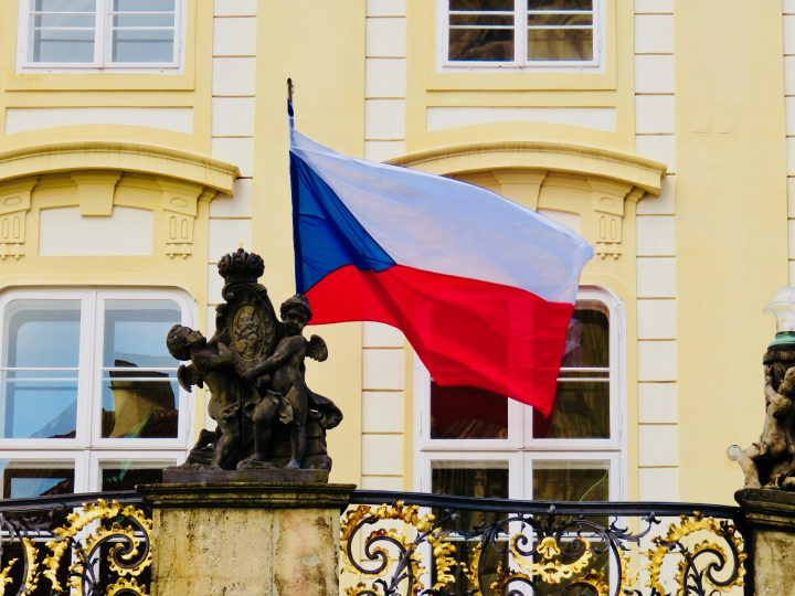 Flag of Czech Republic in Prague; Prague City Trip Travel Blog Inspirations