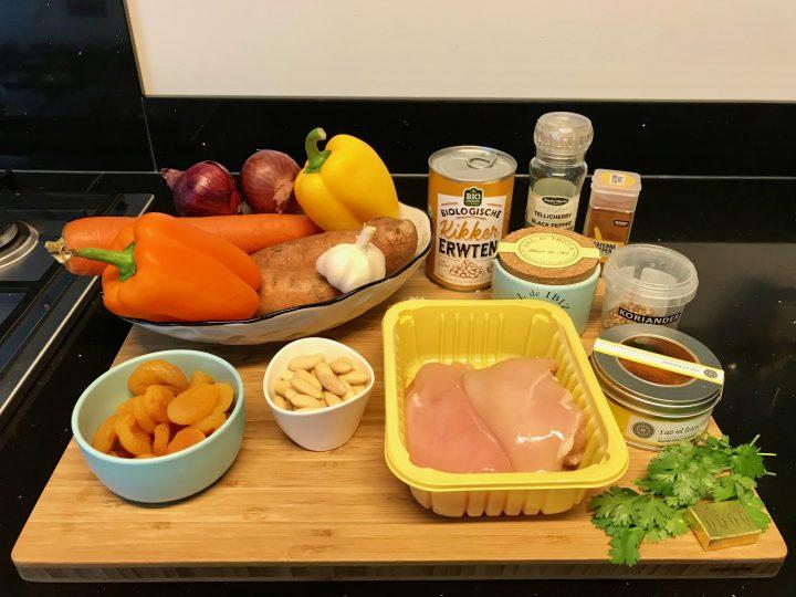 Ingredients Orange Tajine Dinner Meal; Healthy Food recipes and inspirations Blog