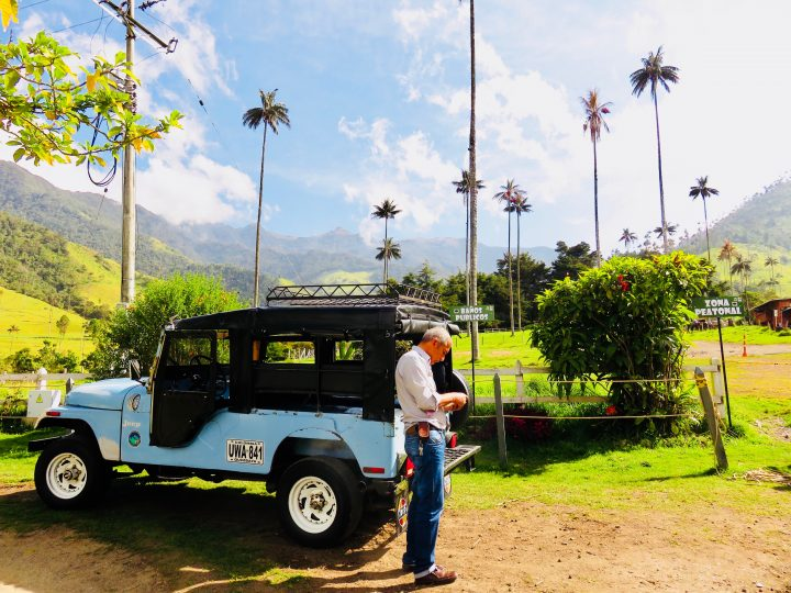 Jeep in Valle de Cocora near Salento Colombia; Colombia Travel Blog Inspirations