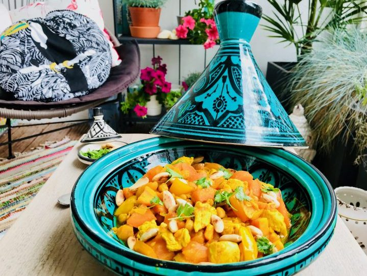 Orange Moroccan Chicken Tajine Dinner Meal; Healthy Food recipes and inspirations Blog