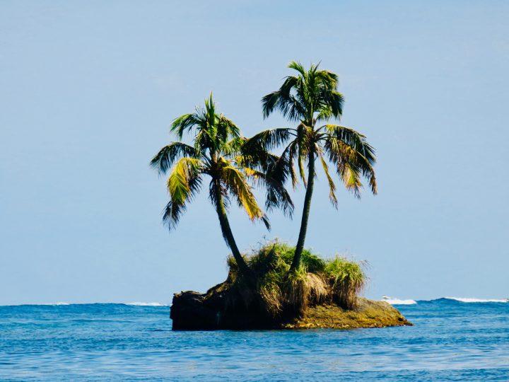 Palm tree island on Bocas del Toro Panama; Panama Travel Blog Inspirations