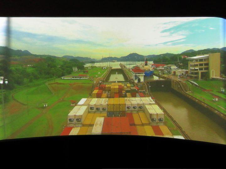 Reconstruction Miraflores view Panama Canal Panama; Panama Travel Blog Inspirations
