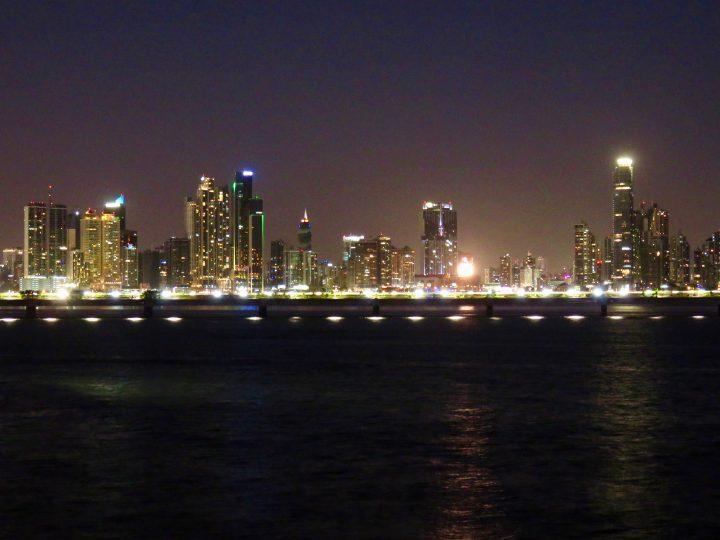 Skyline by night in Panama City; Panama Travel Blog Inspirations