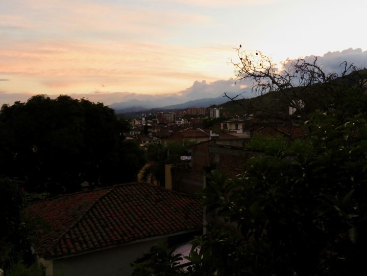 Sunset over Cali Colombia; Colombia Travel Blog Inspirations