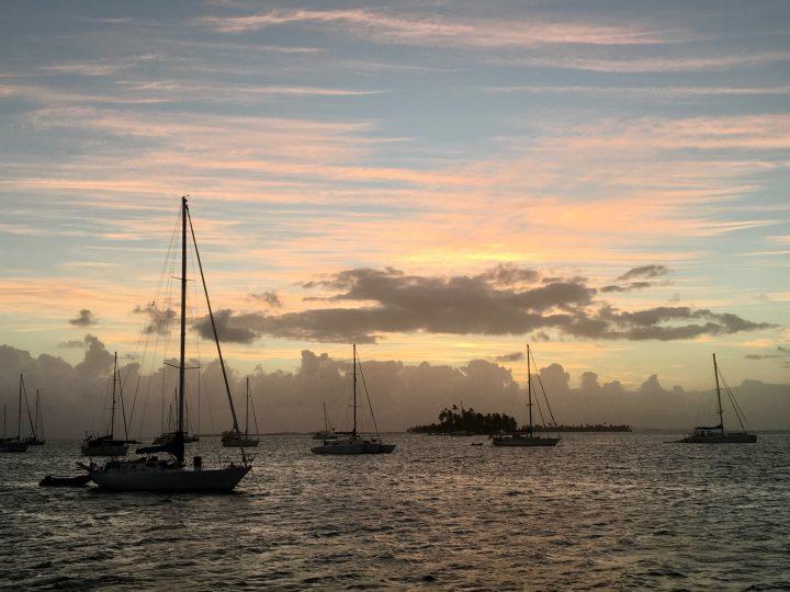 Sunset Sailing through the San Blas Islands Panama; Panama Travel Blog Inspirations