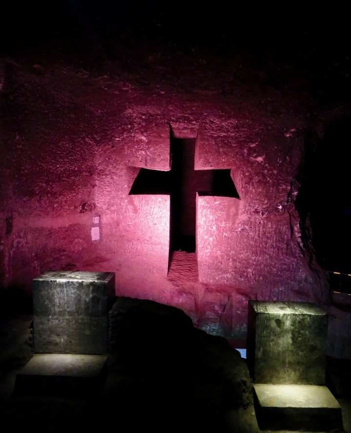 Zipaquirá cross in Zipaquirá church near Bogota Colombia; Colombia Travel Blog Inspirations