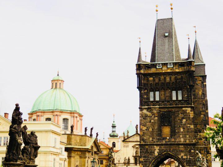 Bridge Tower from the Charles Prague; Prague City Trip Travel Blog Inspirations