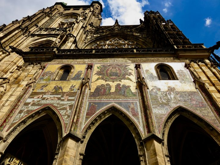 Stunning paintings on Castle in Prague; Prague City Trip Travel Blog Inspirations