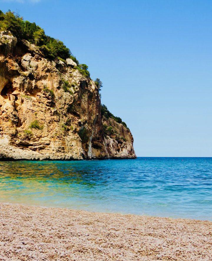Stone beach on Golfo di Orosei in East Sardinia, Sardinia Travel Blog Inspirations
