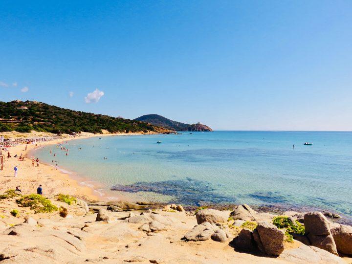 Chia beach in South Sardinia, Sardinia Travel Blog Inspirations