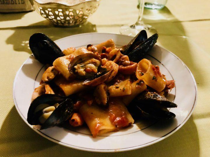 Pasta Clams while traveling in Sardinia, Sardinia Travel Blog Inspirations