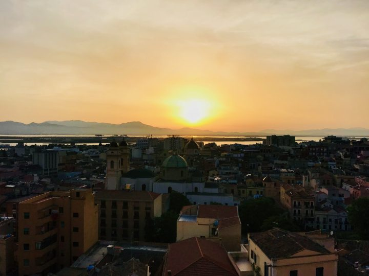 Sunset over Cagliari Sardinia, Sardinia Travel Blog Inspirations