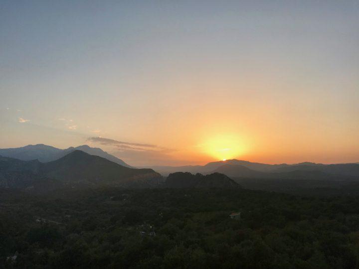 Sunset Dorgali near Golfo di Orosei in East Sardinia, Sardinia Travel Blog Inspirations