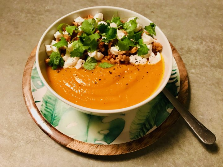 Pumpkin Soup with proteins for lunch or dinner, Food Healthy Food recipes and inspirations