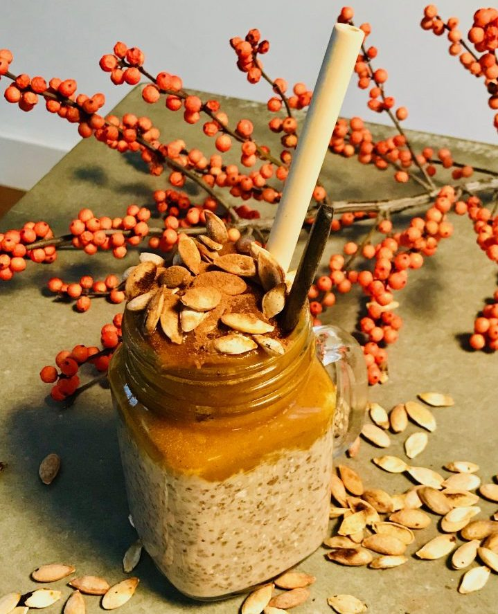 Overnight Oatmeal with Pumpkin breakfast, Food Healthy Food recipes and inspirations Blog