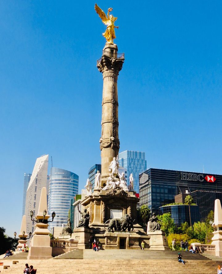 Angel Indepencia monument in Mexico City, Mexico Travel Blog Inspirations