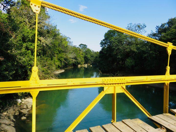 Yellow Bridge at Semuc Champey Guatemala, Guatemala Travel Blog