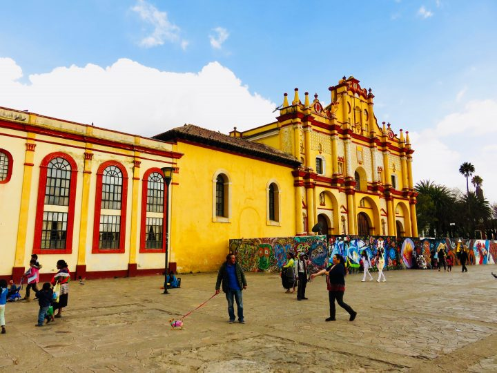 Yellow Cathedral in San Cristobal de Las Casas Mexico, Mexico Travel Blog Inspirations