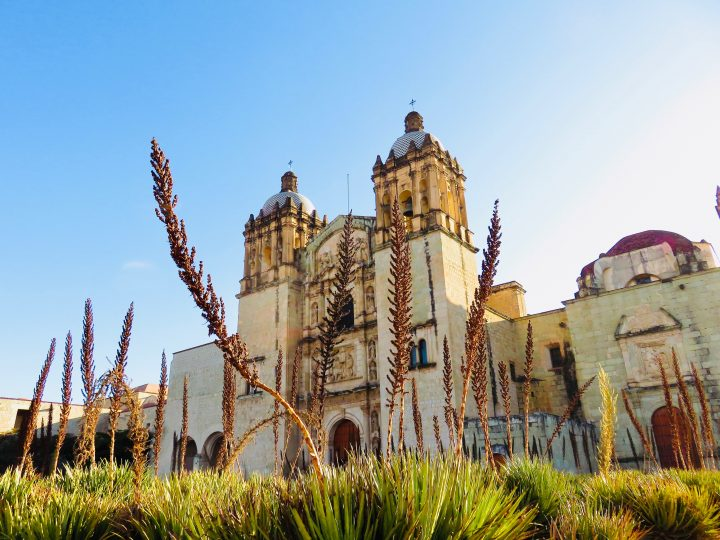 Church Santa Domingo outside in Oaxaca Mexico, Mexico Travel Blog Inspirations