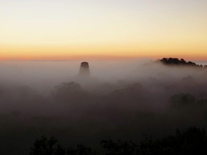 Mysterious Sunrise at the archaeological site Tikal Guatemala, Guatemala Travel Blog