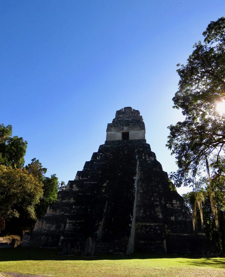 The front of Templo I at the archaeological site Tikal Guatemala, Guatemala Travel Blog
