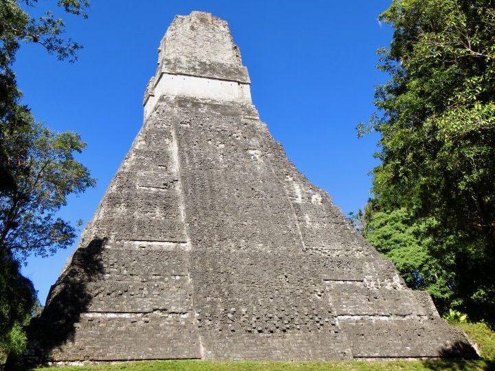 The back of Templo I at the archaeological site Tikal Guatemala, Guatemala Travel Blog