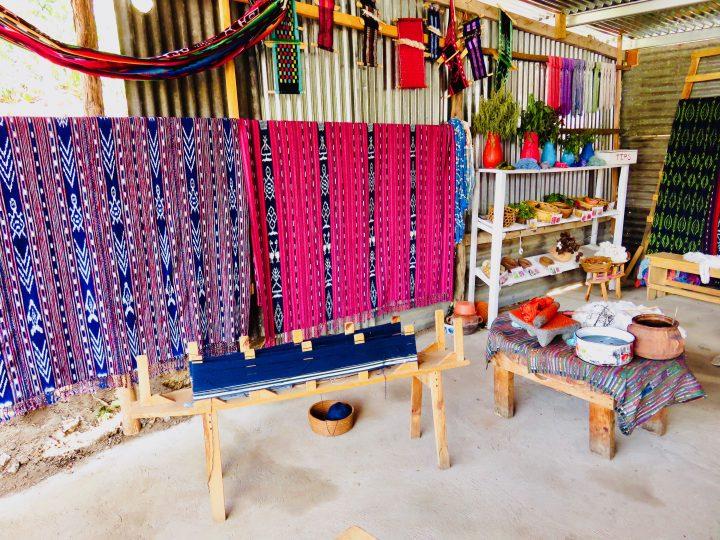 Women working on Textiles in Atitlán Guatemala, Guatemala Travel Blog