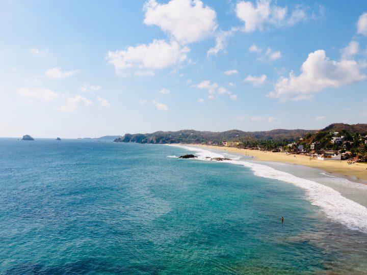 Zipolite beach near Puerto Escondido Mexico, Mexico Travel Blog Inspirations