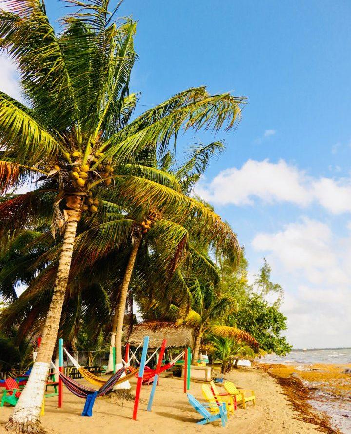 Beach with hammocks at Hopkins Belize, Belize Travel Blog