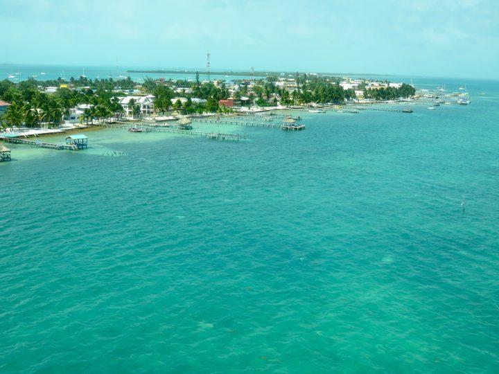 Caye Caulker from above Belize, Belize Travel Blog
