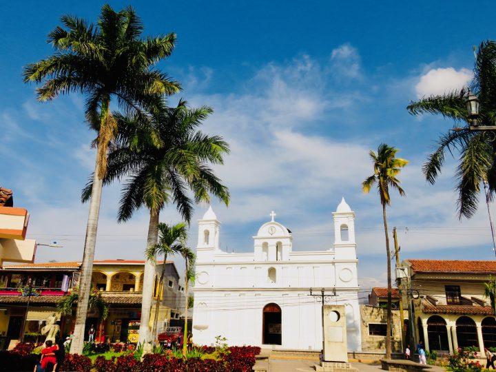 White Church at Plaza Central in Copán Ruinas Honduras, Honduras Travel Blog