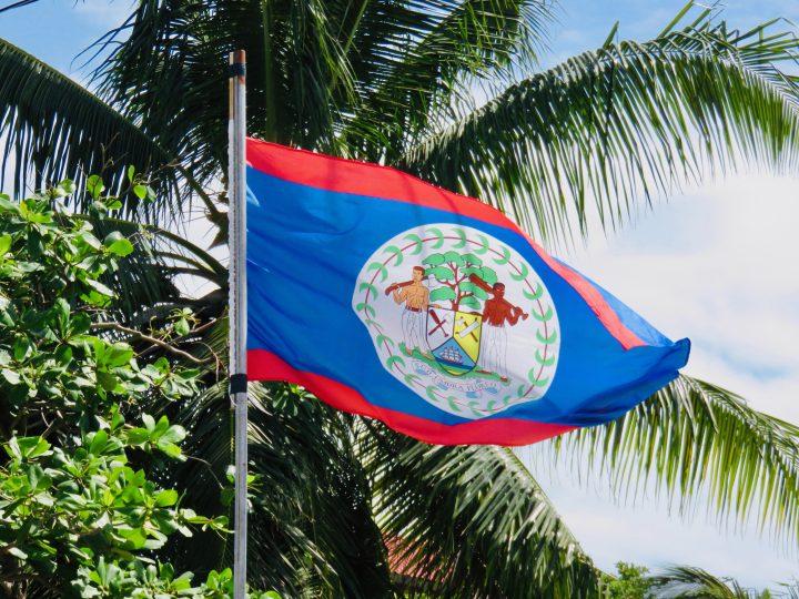 Belizean flag in Belize, Belize Travel Blog
