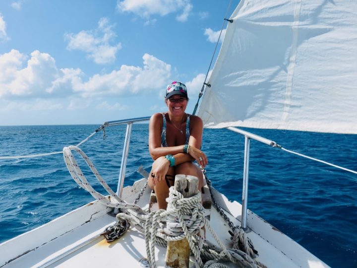 Me sailing during Sailing tour Raggamuffin Belize, Belize Travel Blog