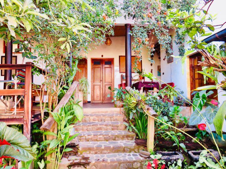 Garden of Hotel Anáhuac in Juayúa on the Ruta de las Flores El Salvador, El Salvador Travel Blog