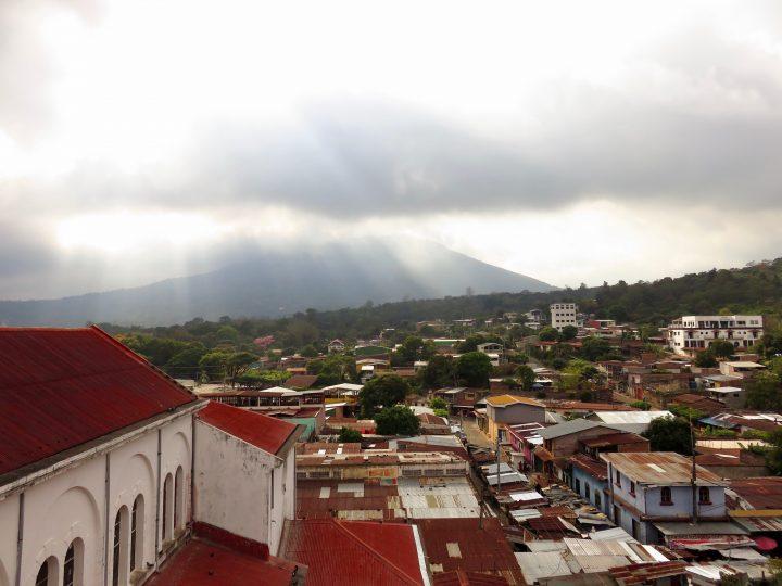 View over de volcanoes from the Iglesia in Juayúa on the Ruta de las Flores El Salvador, El Salvador Travel Blog