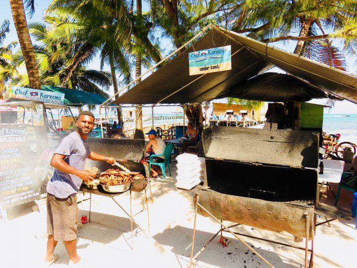 BBQ Chicken lunch at restaurant Chef Kareem's on Caye Caulker Belize, Belize Travel Blog