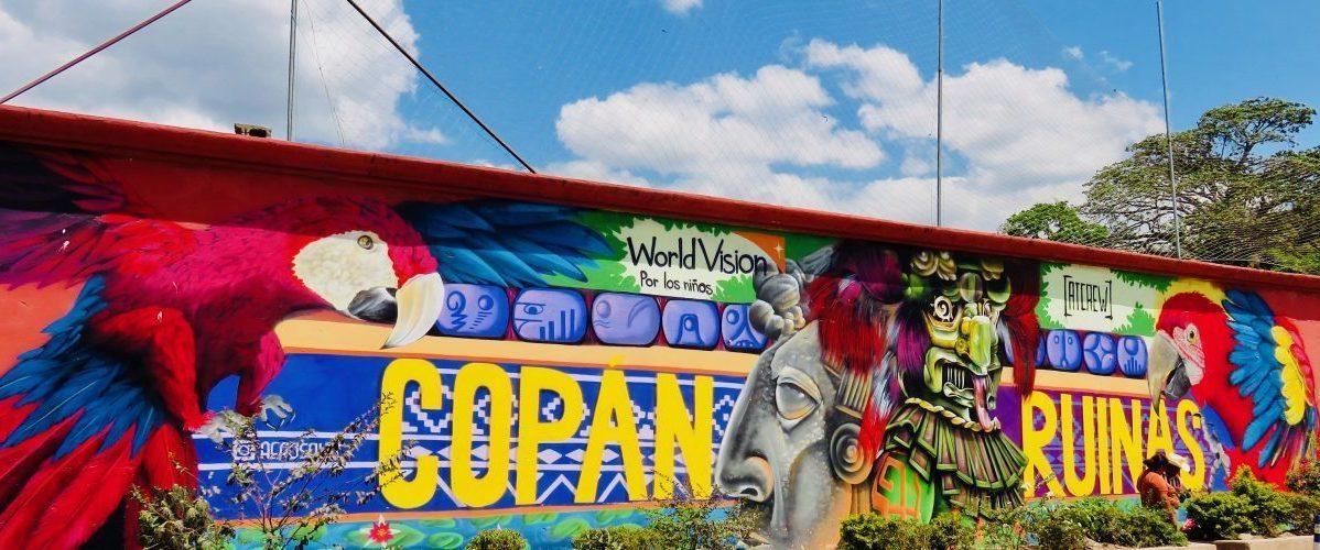 Wall painting of Copán Ruinas Honduras, Honduras Travel Blog