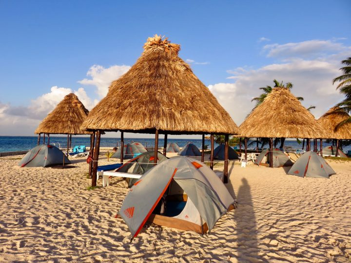 Sleeping in tent on Rendezvous Caye during Sailing tour Raggamuffin Belize, Belize Travel Blog