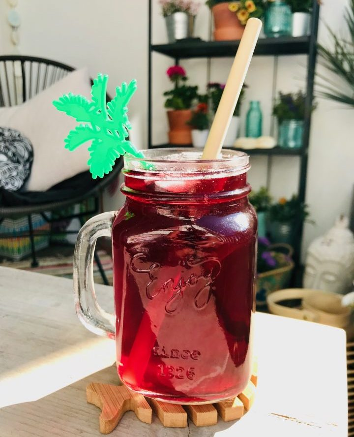 Refreshing drink: Hibiscus Agua de Jamaica made with Soaked dried Hibiscus flowers Food Healthy Food recipes and inspirations
